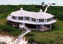 double pedestal built oceanfront caribean sea great exuma bahamas