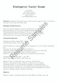 Cover Letter Kindergarten Teacher Resume Photo Resume Example