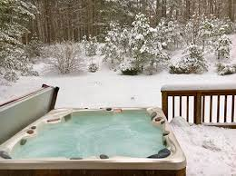 hot tub deck. A Hot Tub On Snow Covered Deck Reminds Us To Position Close