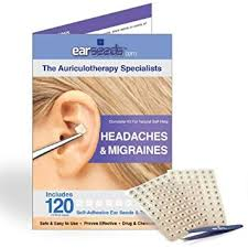 Headache Acupressure Points Chart Earseeds Headache And Migraines Ear Seed Kit Stainless Steel Tweezer 120 Count