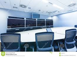 Teleconferencing Video Conference And Telepresence Business Meeting