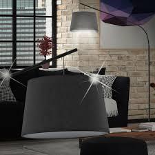 MIA Schirm Steh ↥1970mm/ Klassisch/ Stoff/ Schwarz/ Textil/ Lampe ...