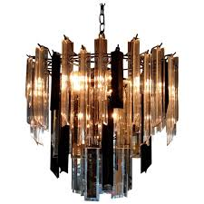 modern black chandelier mid century modern black and clear lucite and mirrored