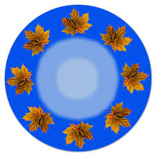 Коврик для мышки (круглый) Кленовые листья #2243303 от vipe
