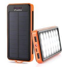 Solar Charger, Zanfl 15000mAh Portable Power Bank Dual USB Backup Battery Pack