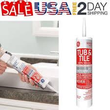ge silicone tub tile silicone caulk 10 1 oz waterproof sealants white