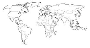 World Map Coloring Pages Printable Able S Page With Countries Labeled C
