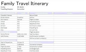 Family Travel Itinerary Template – Theuglysweater.co