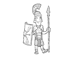 A Roman Soldier Coloring Page Coloringcrewcom