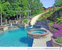 home swimming pools with slides. Interesting Pools 15 Gorgeous Swimming Pool Slides  Home Design Lover Intended Pools With