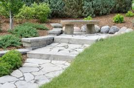 Asian concrete step stones