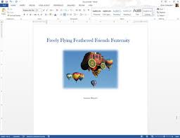 How To Manually Make A Cover Page In Word 2013 Dummies