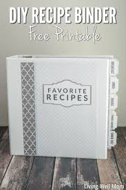 need to organize all those recipes you ve printed out find out how to make a pretty diy recipe binder with these gorgeous free printable recipe binder