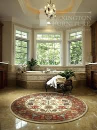 round oriental rugs beautiful wool round oriental rug in a bathroom abraham oriental rugs houston