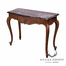 post 1950 marble top console table
