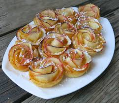 puffed pastry with homemade apricot jam