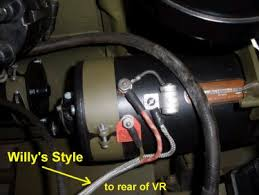 wiring or re wiring steps for you early to mid wwii willys jeep next connect the generator wires to the generator here the willy s style ground sheath is shown and will be connected to the rear of the voltage regulator