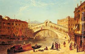 a view of the rialto bridge venice painting james holland a view of the