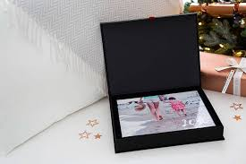 photo book in gift box