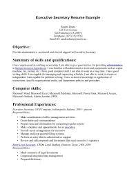 Secretary Resume Sample Secretary Resume Objective Examples Of Resumes shalomhouseus 10