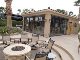 frameless folding doors in palm springs and the coachella valley reach a new level of luxury at the motorcoach country club in indio california