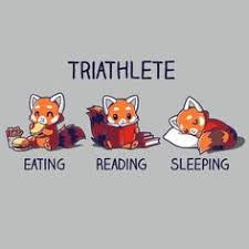 triathlete reading