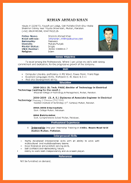 9 Free Download Cv Format In Ms Word My Blog