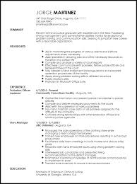 Resume Template Office Custom Free Entry Level Probation Officer Resume Template ResumeNow