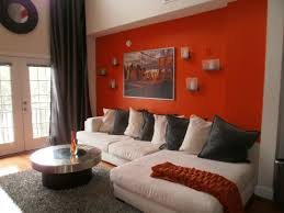Paint Color For Living Room Accent Wall Burnt Orange Paint Color Living Room Living Room Design Ideas