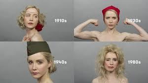 ロシア美女の過去100年間にわたるメイクやヘアスタイルの遷移がわかる