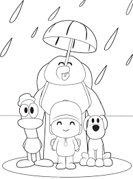 Pocoyo And Friends Coloring Pages Pinterest Pocoyo And Free