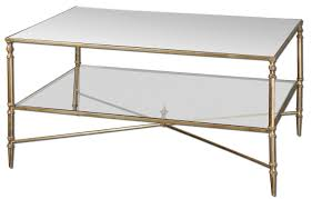 ... Golden Clear Rectangle French Country Brass Glass Coffee Table Designs  Ideas: Brass Glass ...