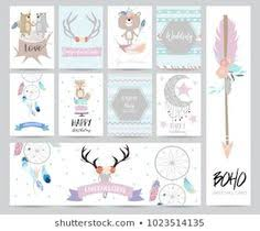 cute cards for banners,Flyers,Placards with <b>feather</b>,arrow,wreath ...