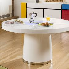 round white dining table. Large Round White Gloss Dining Table Glass Lazy Susan LED Lighting 1.4 E