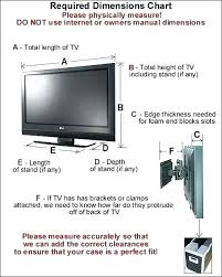 Tv Stand Size Chart 60 Tv Dimensions Westernhydrogen