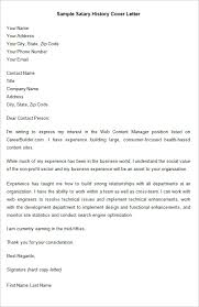 salary history letter salary history cover letter military bralicious co