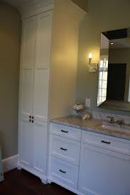 Bathroom  Fascinating White Linen Cabinet For Elegant Bathroom Bathroom Linen Cabinets