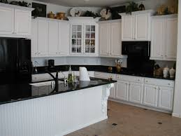 Dark Granite Kitchen White Cabinet And Beadboard Island Kitchen Backsplash Ideas For