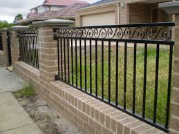 metal fence designs. Perfect Fence Metal Fence Rails Brick Pictures And Ideas With Designs E