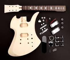 classic mockingbird style guitar kit rw poplar complete