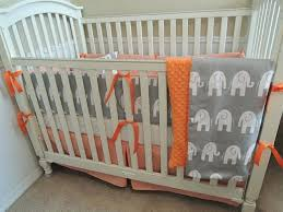 gray and orange bedding gray and orange elephant custom baby bedding traditional kids orange blue and