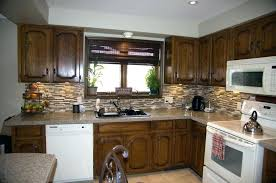 staining kitchen cabinets wood oak cabinet old