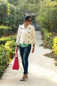 white crop peacoat fashion
