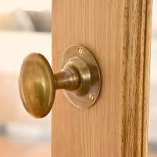 antique brass oval door knobs