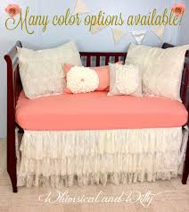 Baby Bedding Crib Bedding Shabby Chic Vintage Lace Baby