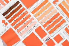 Orange Pantone Color Chart Shop Your Color Many Materials