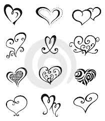 Ilustrace9271828 Srdce Tattoo Set Autor Fulloflove