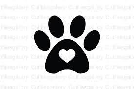 Svg black cartoon love kitten time english alphabet cat paw illustration. Paw Heart Graphic By Cutfilesgallery Creative Fabrica Paw Heart Cricut Monogram Free Fonts For Cricut