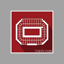 Amazon Com Artsycanvas Stanford Stanford Stadium