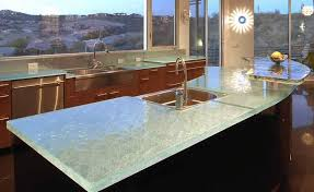 recycled glass kitchen countertops the new way home decor elegant glass kitchen countertops